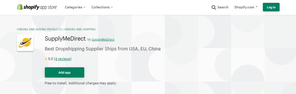 SupplerMeDirect's Shopify app