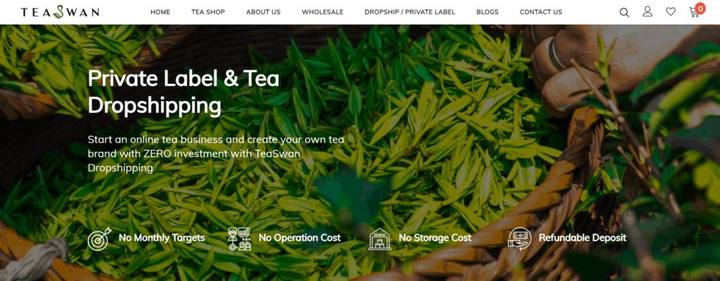TeaSwan private label dropship program