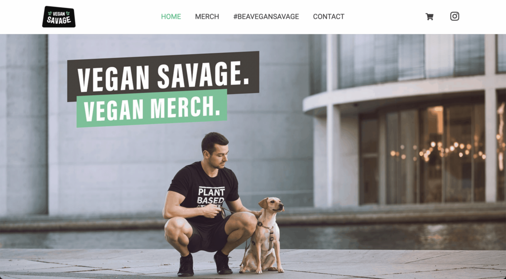 vegan savage homepage
