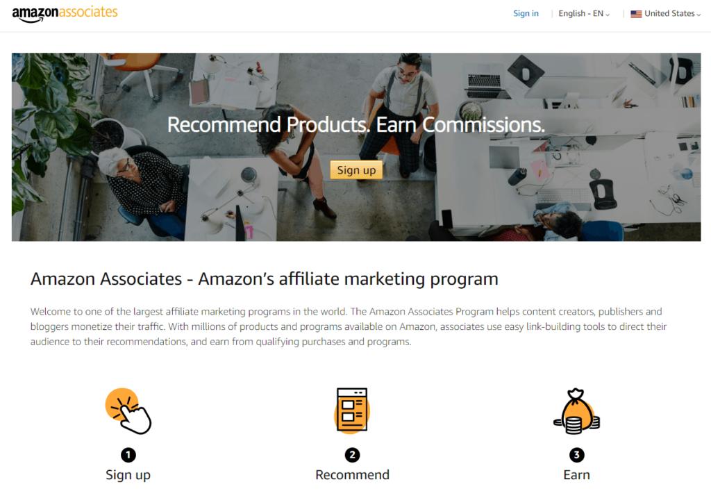 The affiliate program of Amazon