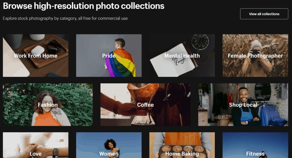 Shopify burst free image examples