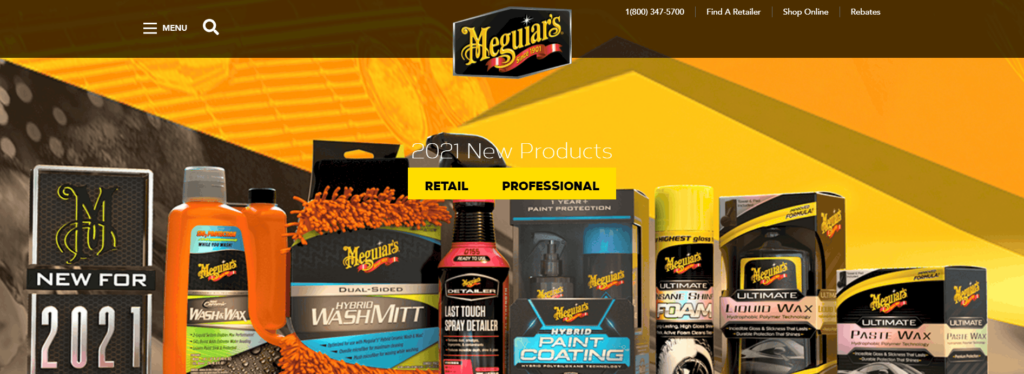 Meguiar's vehicle cleaning products