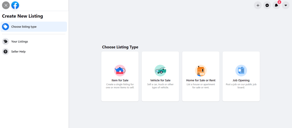 Creating a product listing on Facebook Marketplace