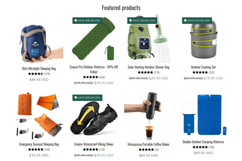 Empire hiking featured products