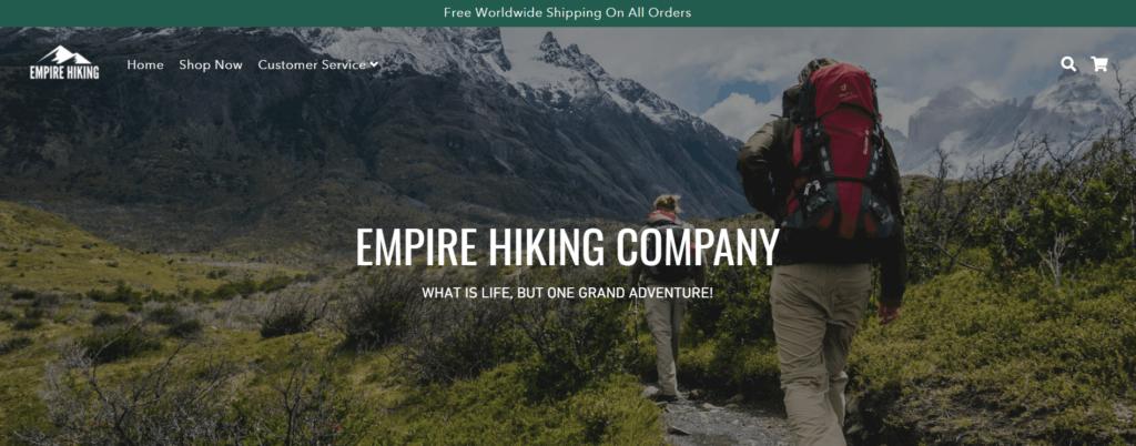 Empire Hiking homepage