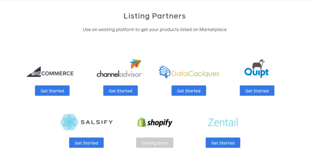Listing partners for Facebook Marketplace