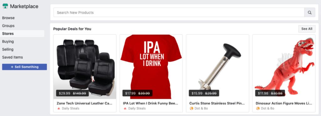 Popular deals for you on Facebook Marketplace