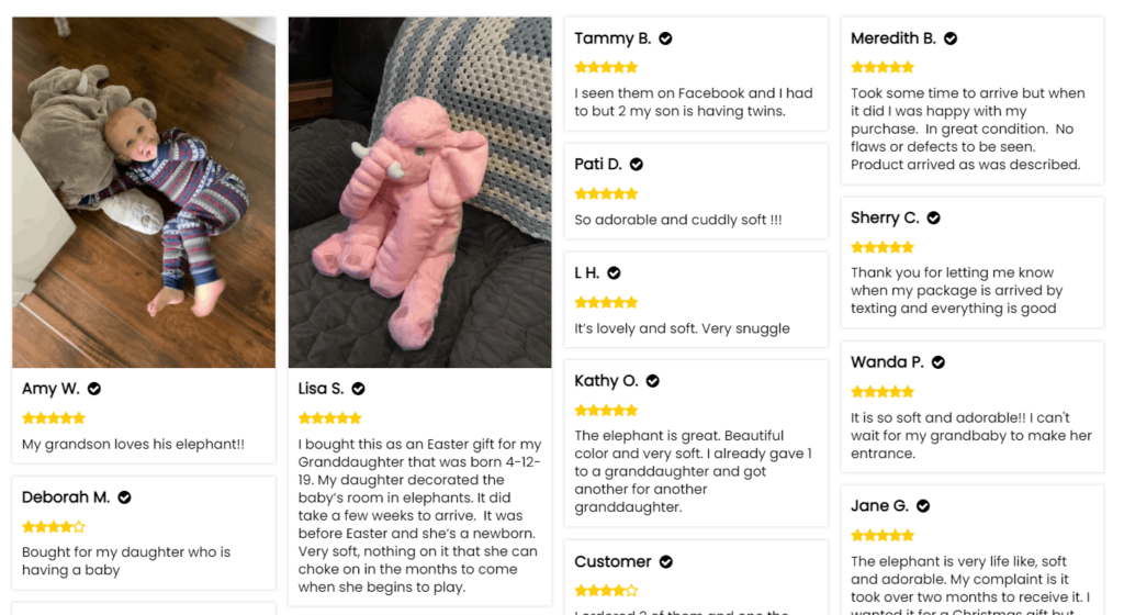 Reviews from Loox app