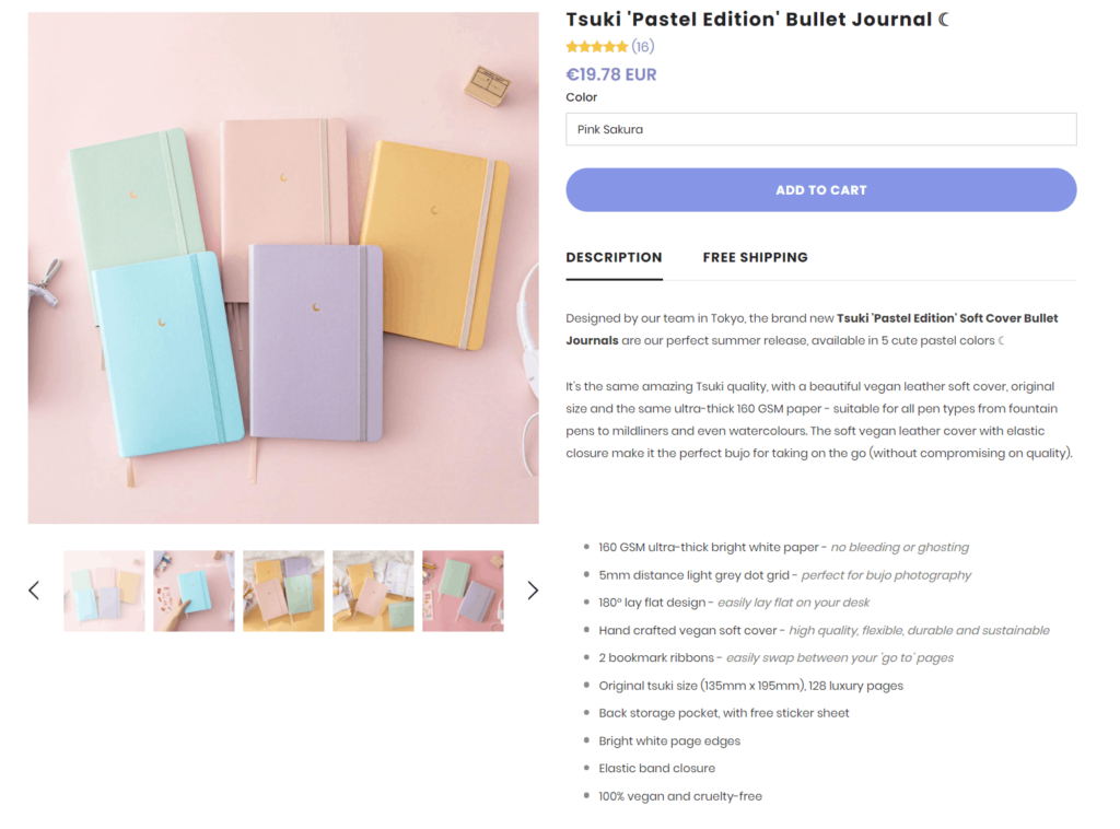 Notebook Therapy product description example