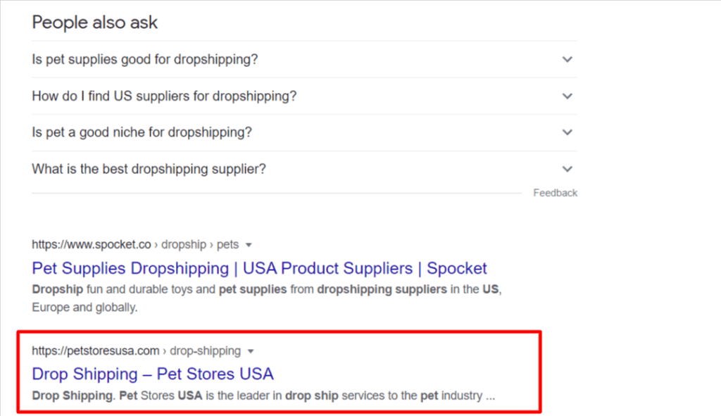 How to find US dropshipping suppliers on Google