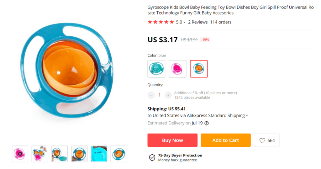 Dropshipping product example