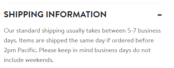 Shipping information Trendy Goods