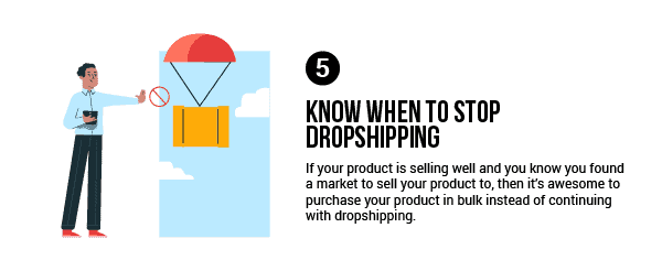 Explanation of the fifth dropshipping mindset tip