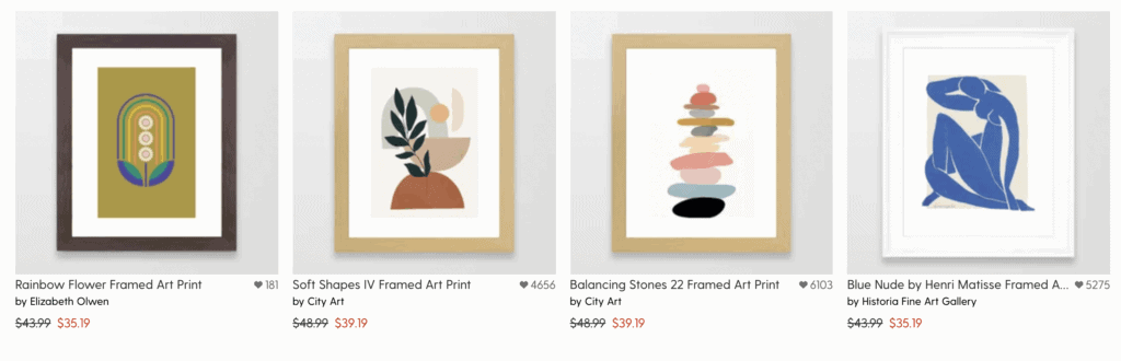 wall prints pod dropshipping