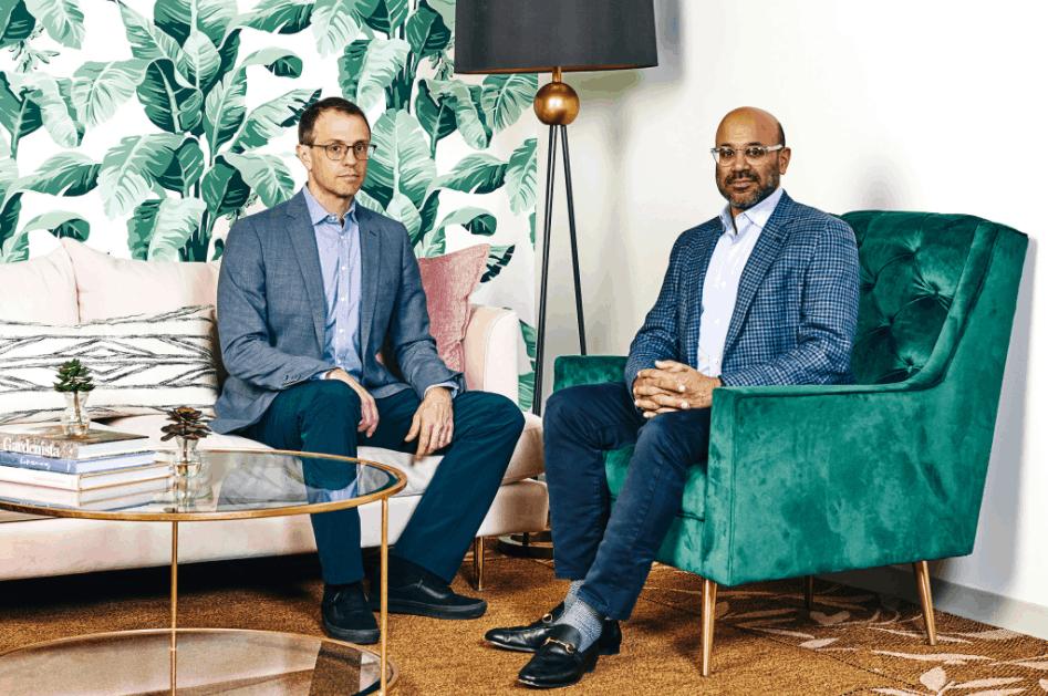 Steve Conine and Niraj Shah, founders of Wayfair
