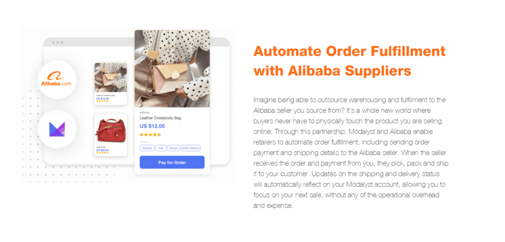 Automate order fulfillment of Alibaba suppliers with Modalyst