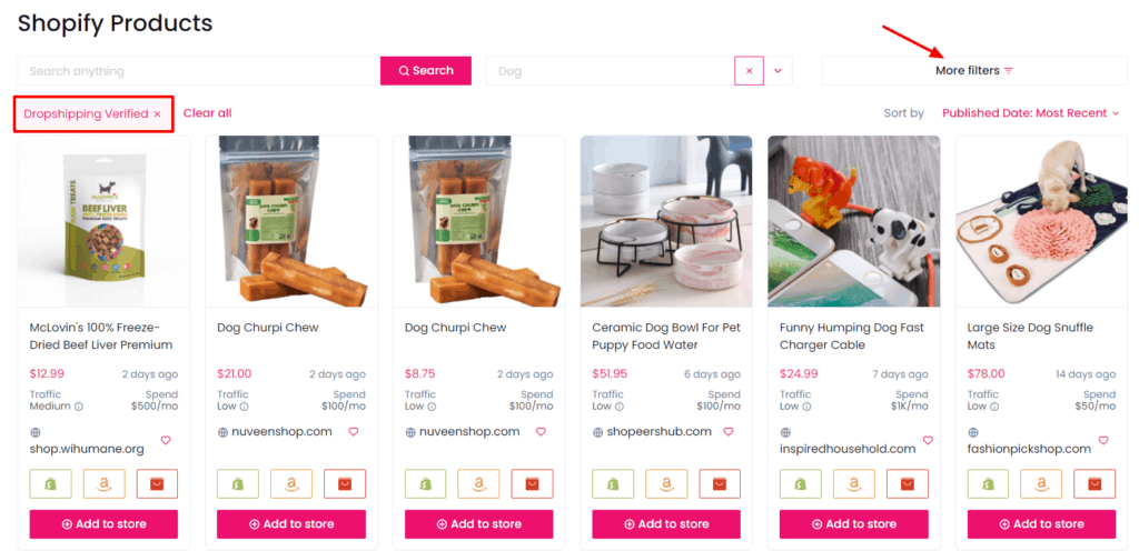 Shopify product examples