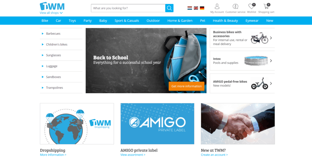 TWM homepage high-ticket dropshipping supplier