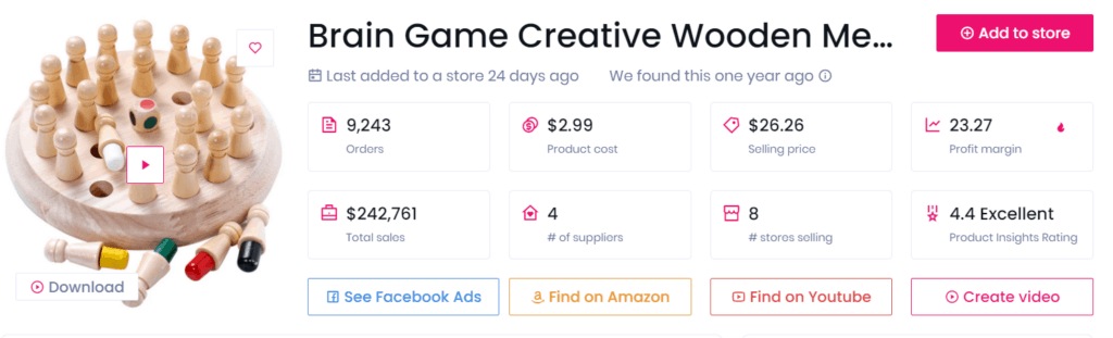 Low-ticket dropshipping product example wooden brain game